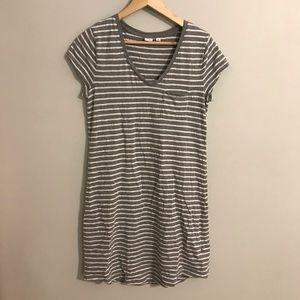 GAP Striped T-shirt Dress with Pocket